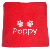 My Posh Paws - Personalised Fleece Blanket - Red