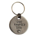 One Pawfect Dog Slogan Dog ID Tag