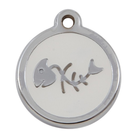 My Sweetie White Fishbone Pet ID Tag