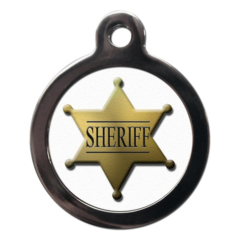 Sheriff Pet ID Tag