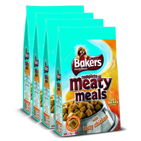 Meaty Meals Chicken Dog Food x 4