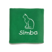 My Posh Paws - Personalised Christmas Cat Blanket – Emerald Green