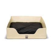 Diva Dog - Lounge bed Rectangle in Beige Croc