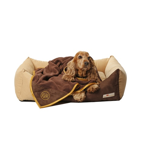 Cosy Cuddle Pet Blanket - Chocolate Brown 2
