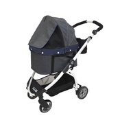 InnoPet - Cleo Denim Pet Buggy with Detachable Carrier