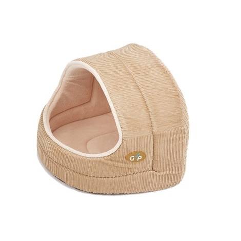 Royan Hooded Cat Bed - Beige