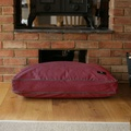 Luxury Corduroy Dog Bed – Wine