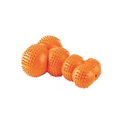 Gor Pets - Gor Rubber Super Giggle Bone Toy - Orange