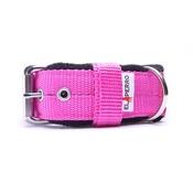 El Perro - 4cm width Fleece Comfort Dog Collar - Fuchsia Pink