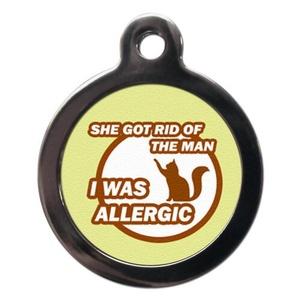 I Was Allergic Cat Tag