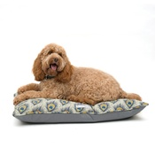 Mutts & Hounds - Peacock Linen Pillow Dog Bed