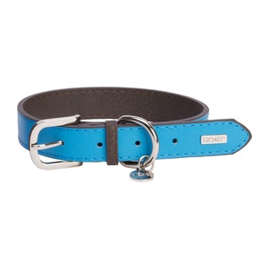 DO&G Leather Dog Collar - Light Blue
