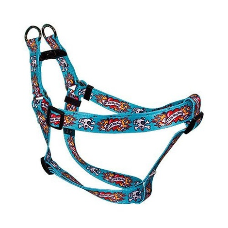 Blue I Luv My Dog Step-In Dog Harness