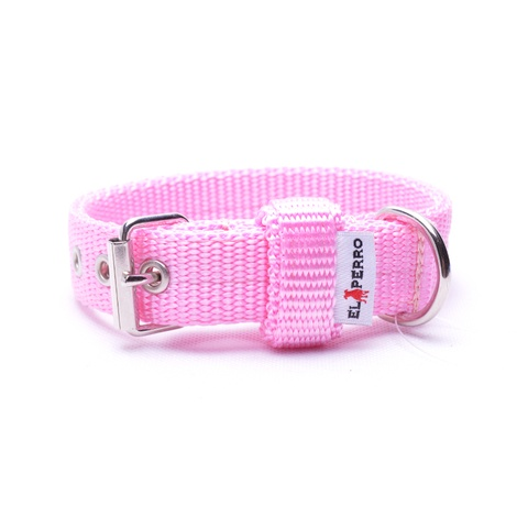 Double Dog Collar – Baby Pink