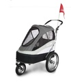 Black/Grey Sporty Dog Trailer Deluxe