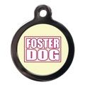 Foster Dog Pet ID Tag - Pink