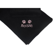 My Posh Paws - Personalised Blanket for Big Dogs - Black