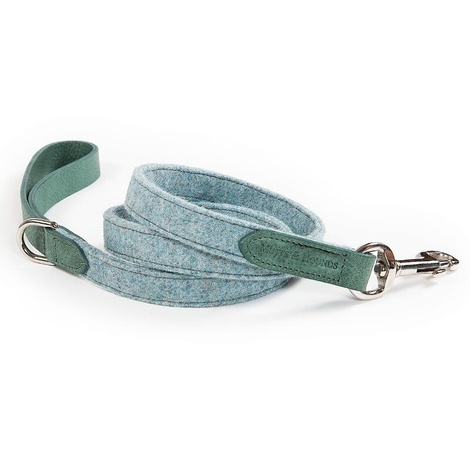 Teal Tweed & Leather Lead