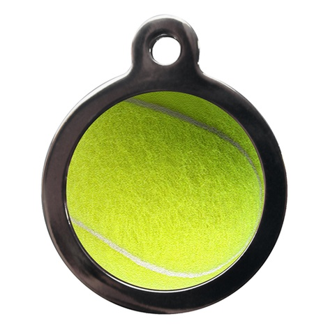 Tennis Ball Pet ID Tag