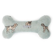Mutts & Hounds - Dog Print Duck Egg Squeaky Bone Toy