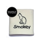 My Posh Paws - Personalised Cat Blanket - Ivory