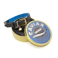 The 'Beluga' Cat Collar - Caviar Grain Leather 2