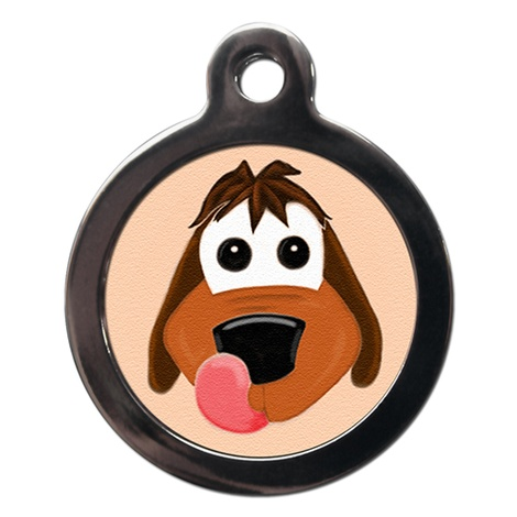 Happy Dog Pet ID Tag