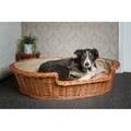 Wicker Pet Basket with Cream Cushion 2