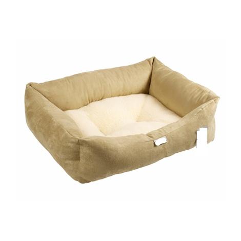 Stone Sherpa Fleece Dog Bed
