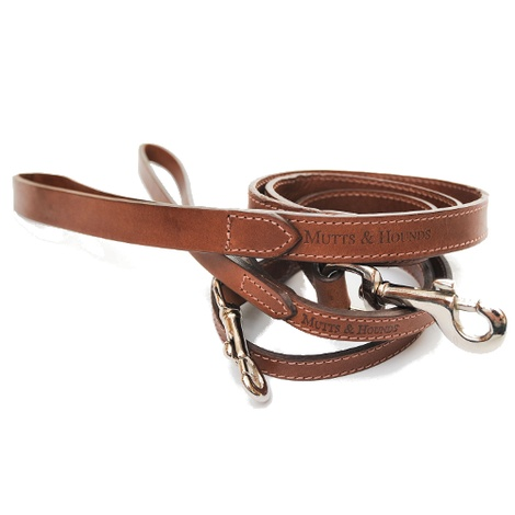 Slim Full Tan Leather Dog Lead