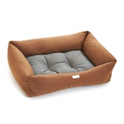 Pet Pooch Boutique - Copper & Grey Two Tone Dog Bed