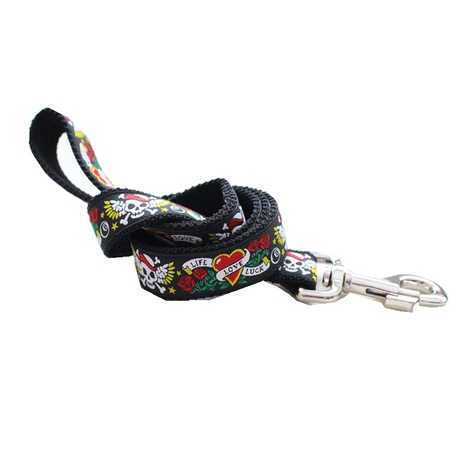 Skull Tattoo Dog Lead