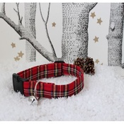 The Spotted Dog Company - Tartan Dog Collar with Christmas Jingle