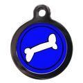 Bone Pet ID Tag - Blue