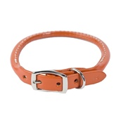 Auburn Leathercrafters - Rolled Leather Dog Collar – Tan