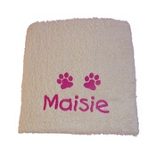 My Posh Paws - Personalised Pet Towel - Cream