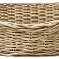 Greywash Oval Rattan Basket  4