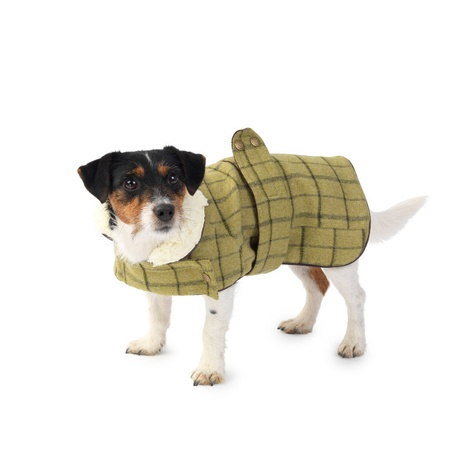 Tweed Dog Coat – Green 2