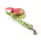 Yellow Dog - Green Daisy on Pink Polka Lead  Uptown Range