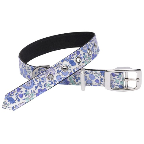 Adelina Liberty Print Dog Collar – Blue