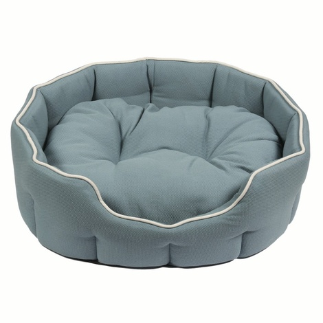 Kudos Kingston Oval Pet Bed in Duck Egg Blue