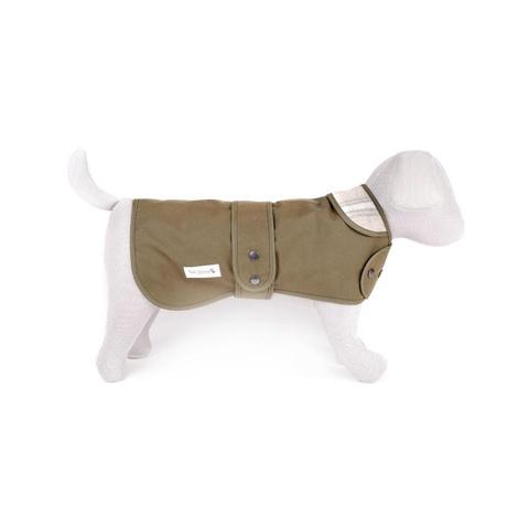 Sand Shetland Wool Waxed Dog Coat 3