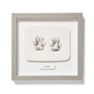 Framed Personalised Paw Mould