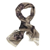 Lisa Bliss - Dachshund Print Scarf in Mink