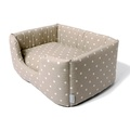 Deeply Dishy Luxury Dog Bed - Dotty Taupe 2