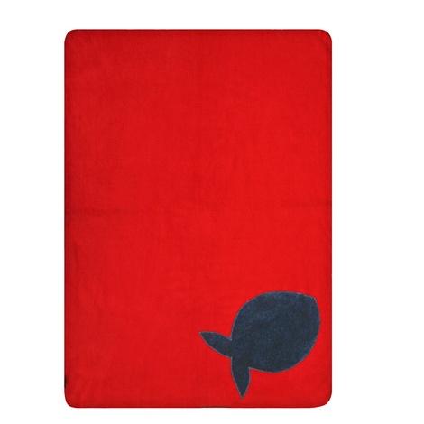 Fleecy Cat Blanket – Grey/Red