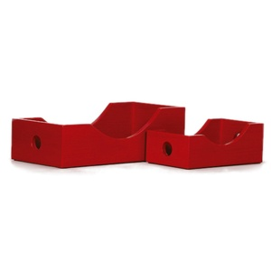 Contemporary Cherry Red Toy Box