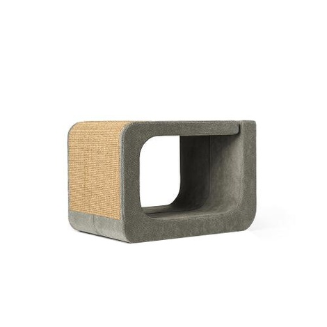Scratching Post - Letter O - Grey