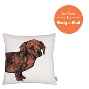 The Graduate Collection - Dachshund Cushion - Orange