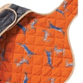 Quilted Dog Coat - Navy 4
